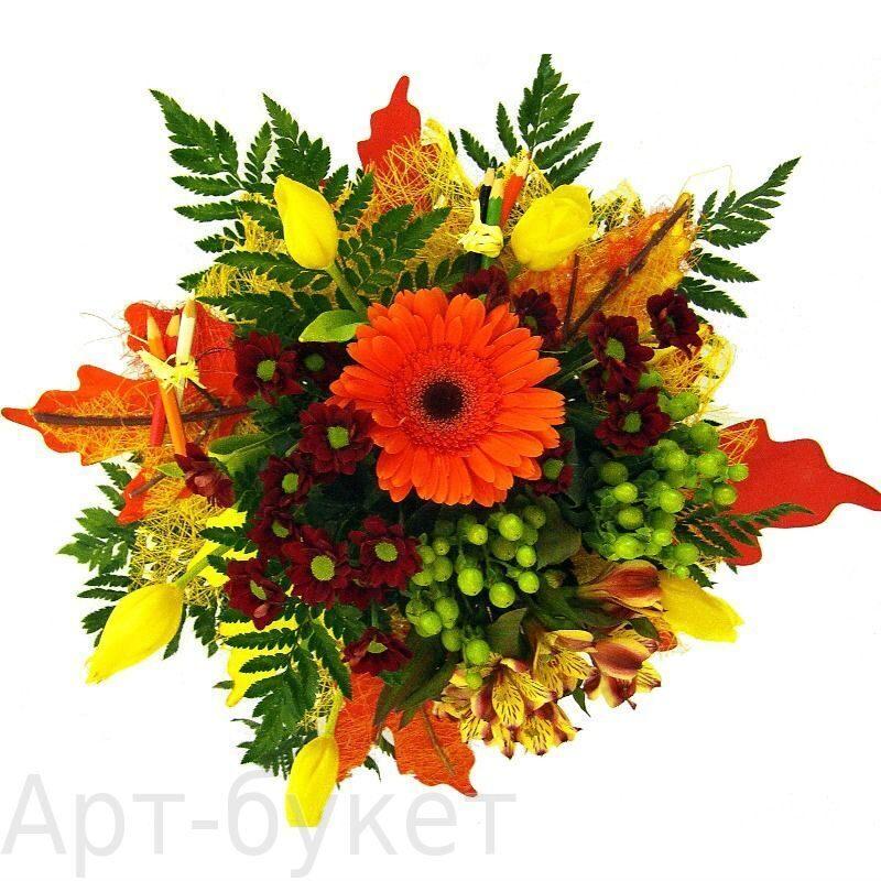 Букеты из цветов на 1 сентября